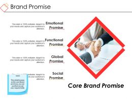 Brand Promise Powerpoint Slide Presentation Sample