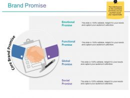 Brand Promise Ppt Presentation Examples