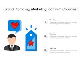 Brand Promoting Marketing Icon With Coupons