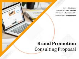 Brand Promotion Consulting Proposal Powerpoint Presentation Slides