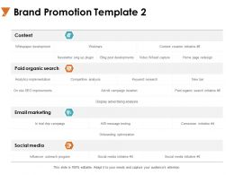 Brand Promotion Email Marketing Ppt Powerpoint Presentation Gallery Good