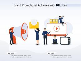 Brand Promotional Activities With BTL Icon