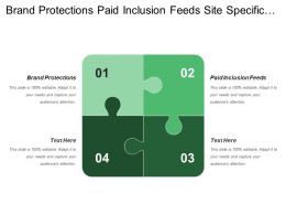 Brand Protections Paid Inclusion Feeds Site Specific Media Buys