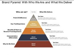Brand Pyramid With Who We Are And What We Deliver