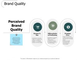 Brand Quality Positioning Ppt Powerpoint Presentation Slides Rules