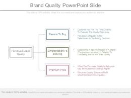 Brand Quality Powerpoint Slide