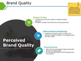 Brand Quality Powerpoint Slide Show