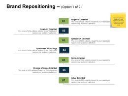 Brand Repositioning Option Segment Ppt Powerpoint Presentation Outline Templates