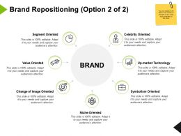 Brand Repositioning Symbolism Oriented Ppt Powerpoint Presentation Icon Model