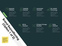 Brand Repositioning Value Oriented Segment Oriented Ppt Powerpoint Presentation File Show