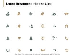 Brand Resonance Icons Slide Pillars Ppt Powerpoint Presentation Pictures Gallery