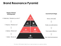 Brand Resonance Pyramid Development Ppt Powerpoint Presentation Pictures