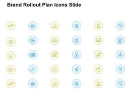 Brand Rollout Plan Icons Slide Target L861 Ppt Powerpoint Visual Aids
