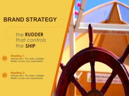 Brand Strategy Business Management Rudder Ship Control