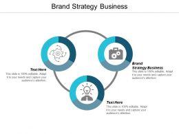 Brand Strategy Business Ppt Powerpoint Presentation Visual Aids Portfolio Cpb