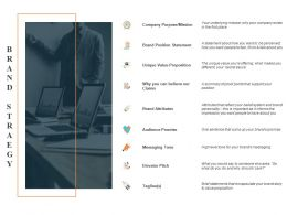 Brand Strategy Company Purpose Ppt Powerpoint Presentation Outline Portrait
