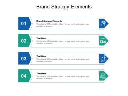 Brand Strategy Elements Ppt Powerpoint Presentation Portfolio Deck Cpb