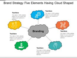 Brand Strategy Five Elements Having Cloud Shaped