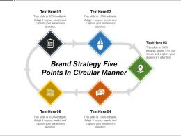 Brand Strategy Five Points In Circular Manner
