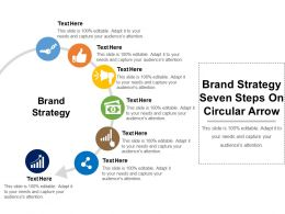 Brand Strategy Seven Steps On Circular Arrow
