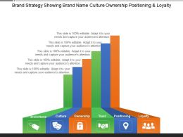 Brand Strategy Showing Brand Name Culture Ownership Positioning And Loyalty