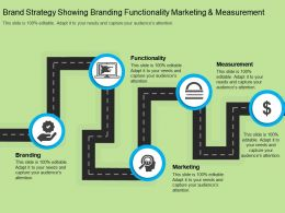 Brand Strategy Showing Branding Functionality Marketing And Measurement