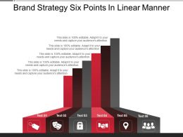 Brand Strategy Six Points In Linear Manner