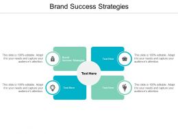 Brand Success Strategies Ppt Powerpoint Presentation Professional Master Slide Cpb