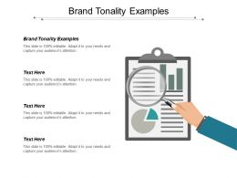 Brand Tonality Examples Ppt Powerpoint Presentation Pictures Format Cpb