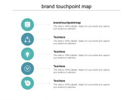 Brand Touchpoint Map Ppt Powerpoint Presentation Infographics Gridlines Cpb