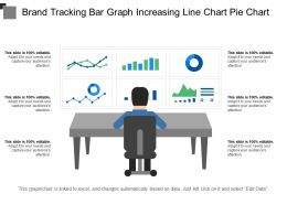 Brand Tracking Bar Graph Increasing Line Chart Pie Chart
