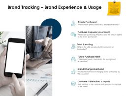 Brand Tracking Brand Experience And Usage Ppt Powerpoint Presentation Ideas