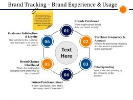 Brand Tracking Brand Experience And Usage Presentation Powerpoint Example
