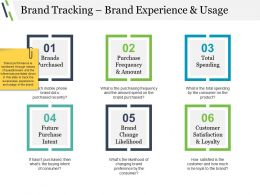 Brand Tracking Brand Experience And Usage Sample Of Ppt Presentation