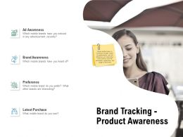 Brand Tracking Product Awareness Planning Ppt Powerpoint Presentation Portfolio Elements