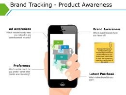 Brand Tracking Product Awareness Powerpoint Slide Themes