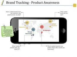 Brand Tracking Product Awareness Ppt Diagrams