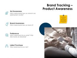 Brand Tracking Product Awareness Ppt Powerpoint Presentation Backgrounds