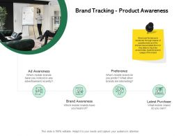 Brand Tracking Product Awareness Ppt Powerpoint Presentation Infographics Show