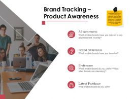 Brand Tracking Product Awareness Ppt Powerpoint Presentation Styles