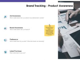Brand Tracking Product Awareness Ppt Powerpoint Presentation Topics