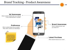 Brand Tracking Product Awareness Presentation Powerpoint Example