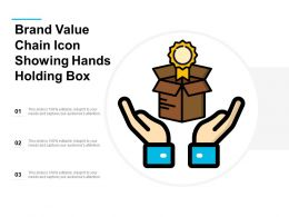Brand Value Chain Icon Showing Hands Holding Box