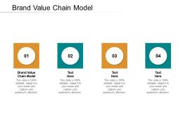 Brand Value Chain Model Ppt Powerpoint Presentation Gallery Example Cpb