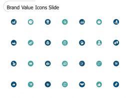 Brand Value Icons Slide Checklist L460 Ppt Powerpoint Presentation