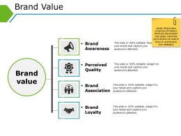 Brand Value Powerpoint Shapes