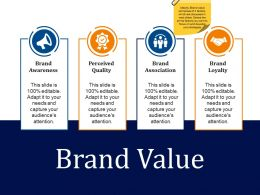 Brand Value Sample Presentation Ppt