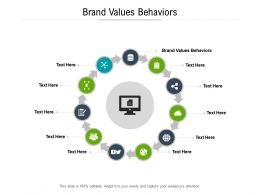 Brand Values Behaviors Ppt Powerpoint Presentation Gallery Design Inspiration Cpb