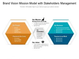 Brand Vision Mission Model With Stakeholders Management