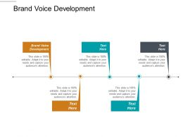 Brand Voice Development Ppt Powerpoint Presentation Gallery Brochure Cpb